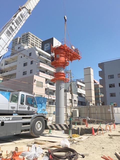 タワークレーン組み立て (3)